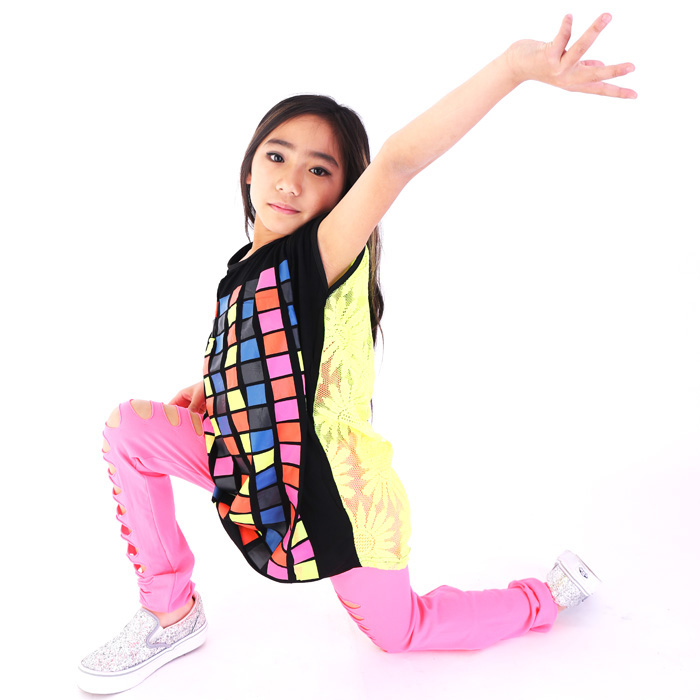 【訳あり】OUTLET アウトレット クラシュレギンスダンス 衣装  ヒップホップ キッズ ダンス レギンス 柄 レギンス ダンス 衣装 キッズダン
