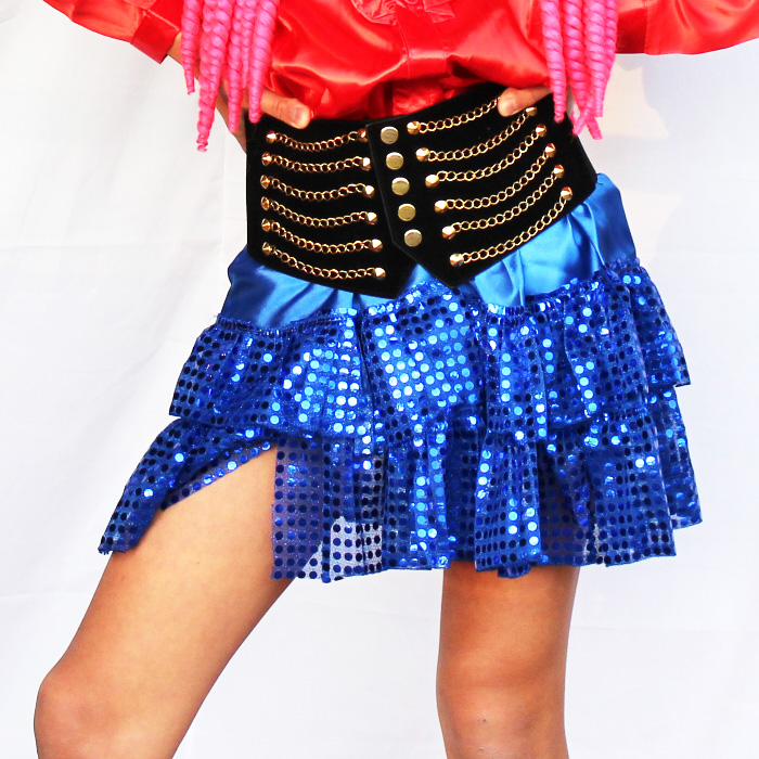 〔あす楽 即納〕スパンコール ダンス スカート キッズ ダンス衣装 ダンス 衣装 ヒップホップ 衣装 キッズダンス 子供 ダンス 衣装 キッズヒップホップ 衣装 チュチュ ダンス 〔ネコポスOK(送料275円)〕 ダンサー