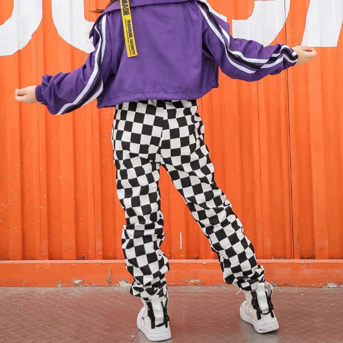 レギンス アメリカン アメコミ柄 ブロック柄 ジョガーパンツ ダンスパンツ ジャージ キッズ 女の子 男の子 ユニセックス モノクロ キッズ〜大人まで 4サイズ 110cm〜レディス ヒップホップ ダンス 衣装