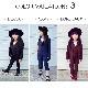 送料無料 女の子 スーツ 3点セット ジャケット/ベスト/パンツ 3ピース スーツセット 無地 3カラー ブラック ネイビー ボルドー 6サイズ 90cm/100cm/110cm/120cm/130cm/140cm ダンス衣装 ヒップホップ