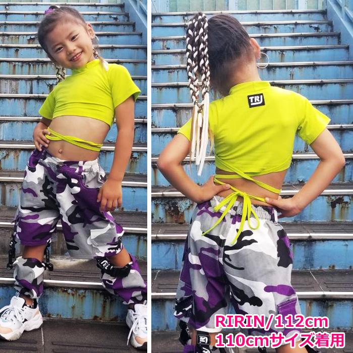 キッズ向け Tシャツ 半袖 無地 4カラー リボン 半袖シャツ 部屋着 スポーツ スポカジ フェス 野外スポーツ 練習着 ダンス 衣装 ヒップホップ ダンス衣装 hiphop ガールズ 女の子 キッズ ジュニア 子供 ヒップホップ 夏フェス