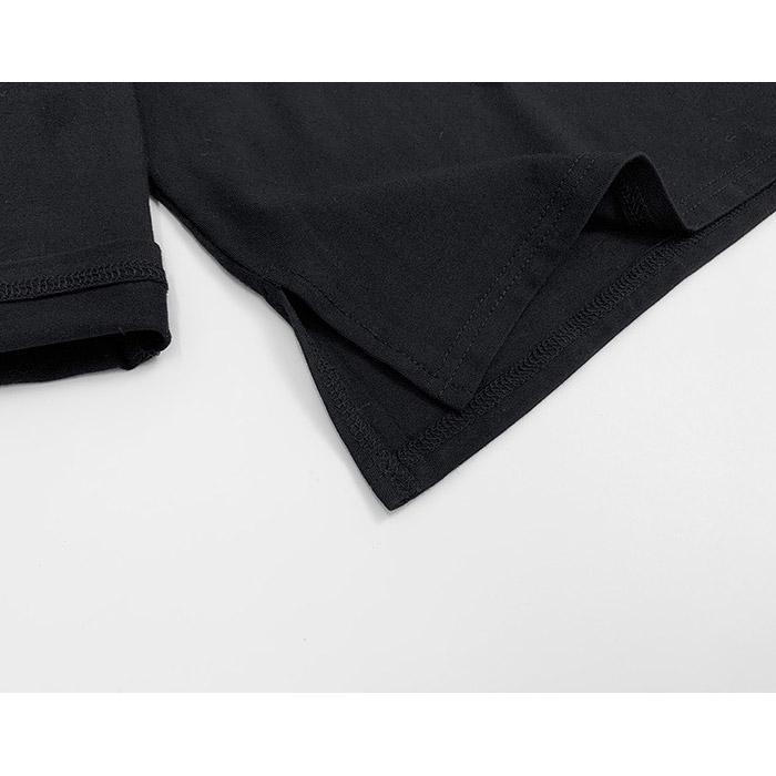 ハイネック 長袖 シャツ Tシャツ スーツインナー フォーマルシャツ 子供 カジュアル インナー フォーマル ブラック/ホワイト 無地 長そで 90cm/100cm/110cm/120cm/130cm/140cm ダンス衣装 ヒップホップ ボーイズ ガールズ キッズ ネコポス配送(275円)可能