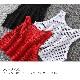 取寄せ納期約2〜3週間 メッシュ タンクトップ キャミソール カラー タンクトップ トップス シャツ カジュアル  ジュニア 女の子 ブラック/ホワイト/レッド 子供 ダンス衣装 ヒップホップ スポカジ カジュアル 女子 レディス ネコポス配送(275円)可能