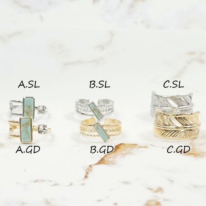 リング CL glass×ターコイズアソート
