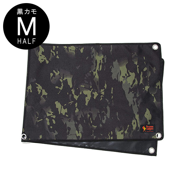 防水グランドシート (M-HALF サイズ/140×50cm) <ブラックカモ>