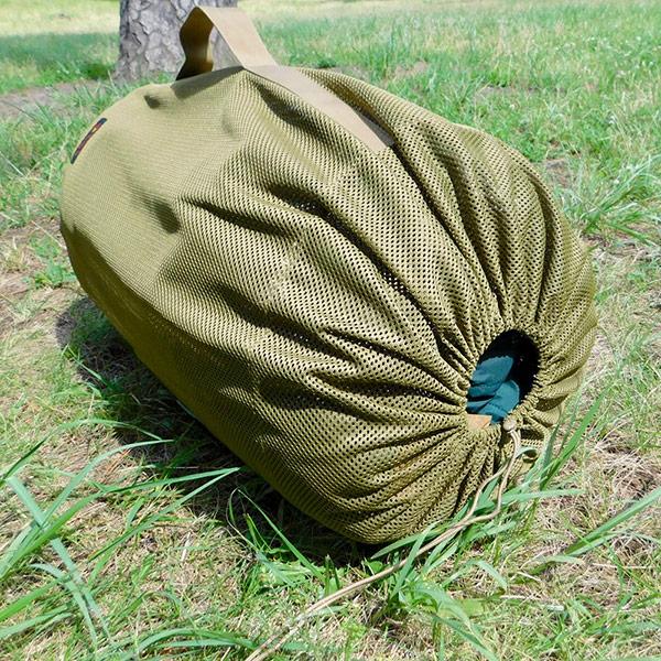 メッシュシリンダーバッグ <LARGE> (マルチカモ) MESH SYLINDER BAG