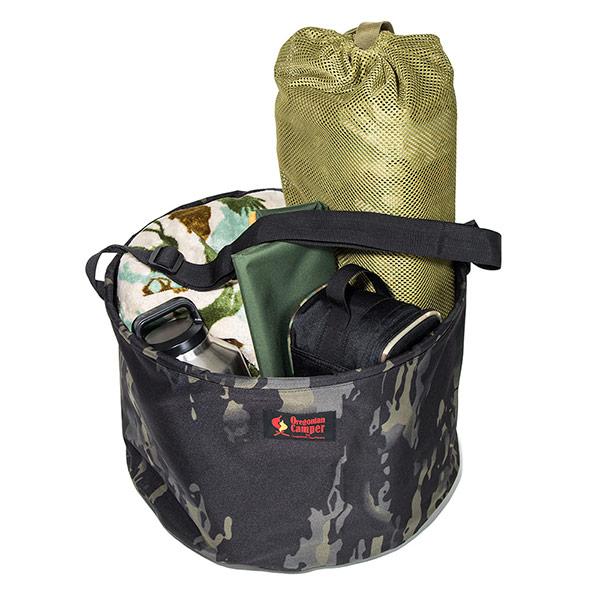 キャンプバケット R (ブラックカモ)