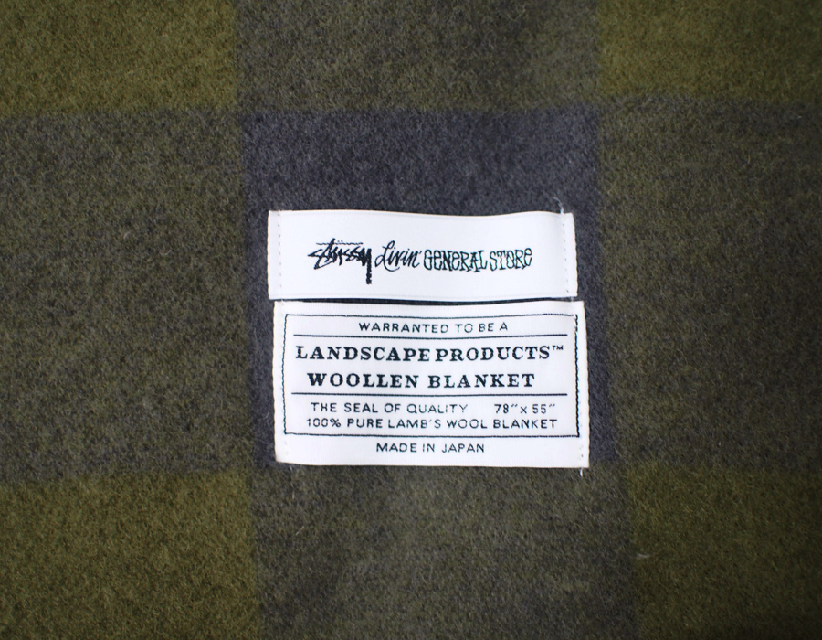 STUSSY Livin' General Store | GS Wool Plaid Blanket by Landscape Products ウールプレイドブランケット