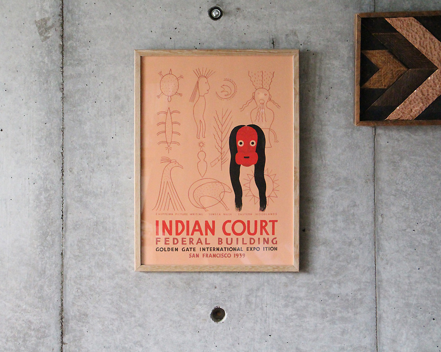"THE DYBDAHL  | Indian Court Print ""1220"" インディアンコートプリント フレーム付"