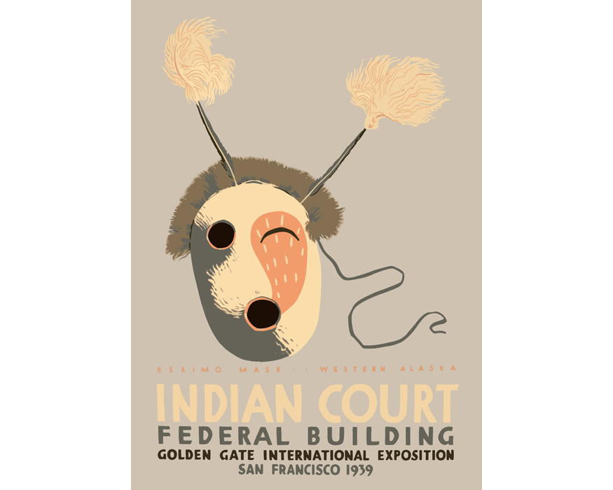 "THE DYBDAHL  | Indian Court Print ""1218"" インディアンコートプリント フレーム付"