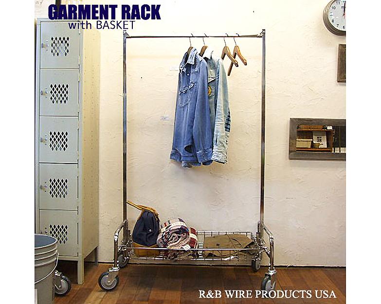 R&B Wire Products USA | GARMENT RACK with SHELF ガーメントラック&シェルフ