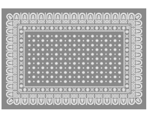 DETAIL | Flower Bandana Rug Gray [4size] フラワーバンダナラグ グレー