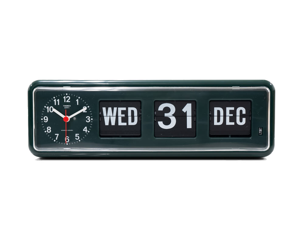TWEMCO | Calender Clock BQ-38 Limited D.Green トゥエンコBQ-38 別注グリーン