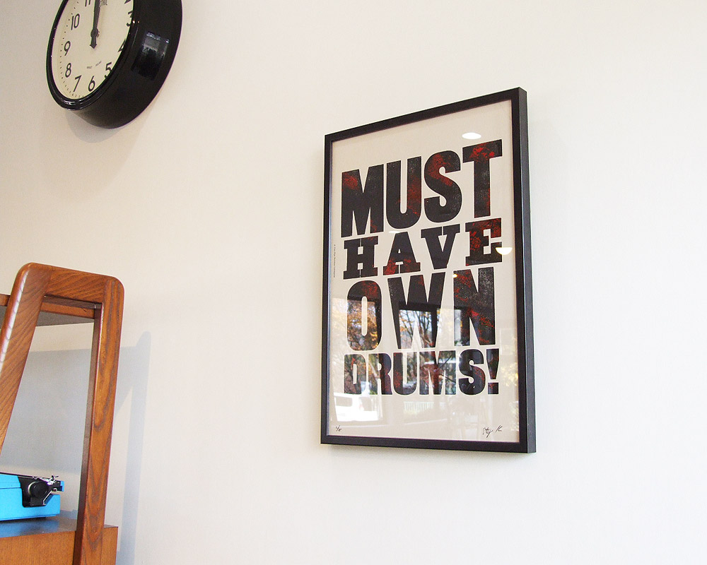 A TWO PIPE PROBLEM LETTERPRESS | MUST HAVE OWN DRUMS! POSTER マストハブオウンドラッグス ポスター
