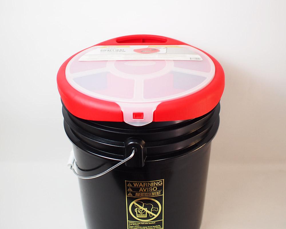 ULINE | 5Gallon Plastic Pail with Bucket Seat [5color] ユーライン プラスチックバケツ バケットシート付き