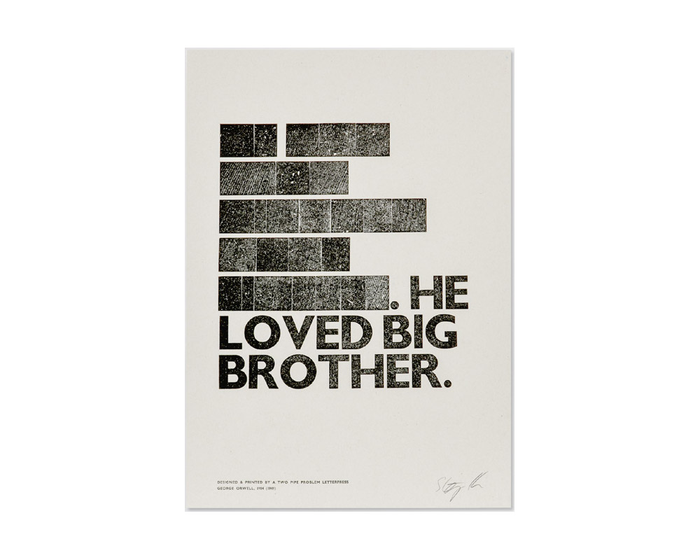A TWO PIPE PROBLEM LETTERPRESS | BIG BROTHER POSTER ビッグブラザーポスター