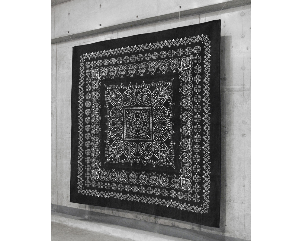 DETAIL | Leaf Bandana Rug Black [4size] リーフバンダナラグ ブラック