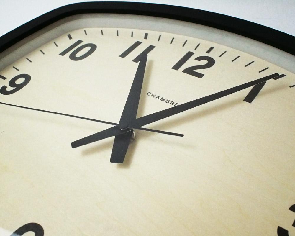 CHAMBRE | R-SQUARE BLACK CLOCK アールスクエアブラック 電波時計