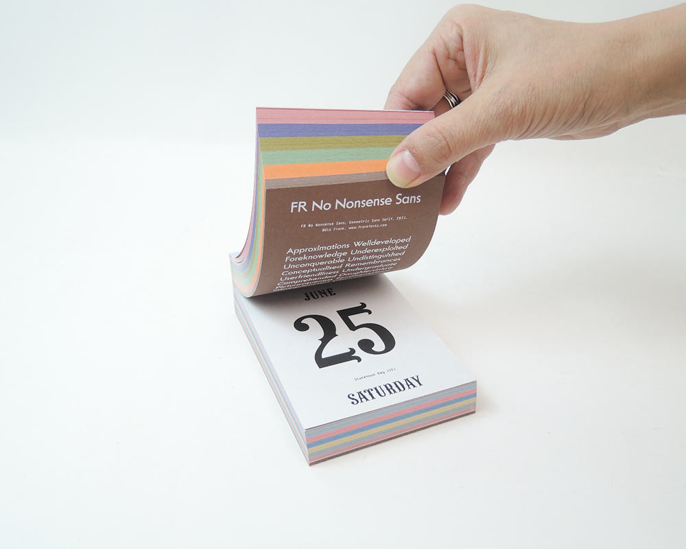 verlag hermann schmidit | TYPODARIUM 2022 タイポダリウム/カレンダー