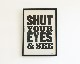 A TWO PIPE PROBLEM LETTERPRESS | SHUT YOUR EYES POSTER シャットユアアイズ ポスター