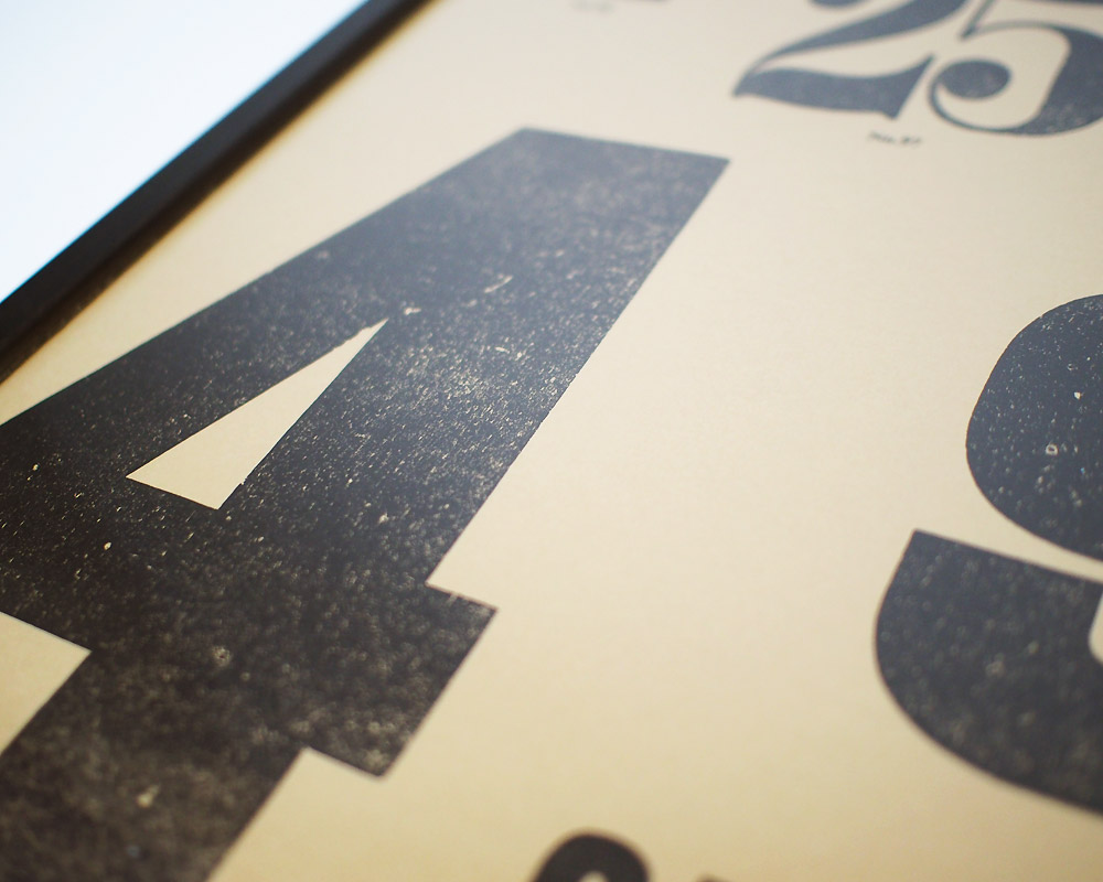 A TWO PIPE PROBLEM LETTERPRESS | BIG NUMBERS POSTER ビッグナンバーポスター