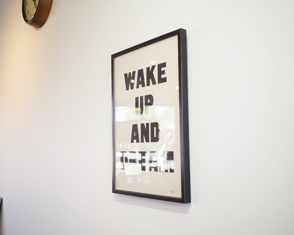 A TWO PIPE PROBLEM LETTERPRESS | WAKE UP AND DREAM POSTER ウェイクアップアンドドリーム ポスター