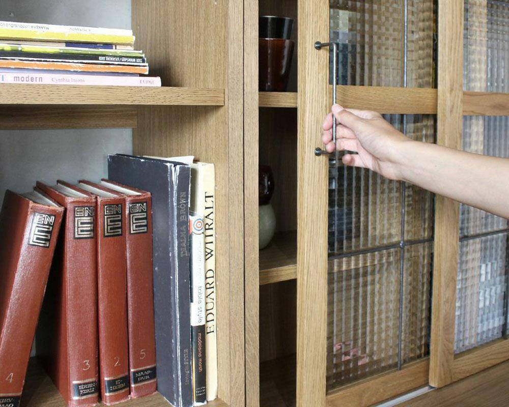 a.depeche | cadeal book case glass door カデルブックケースガラスドア