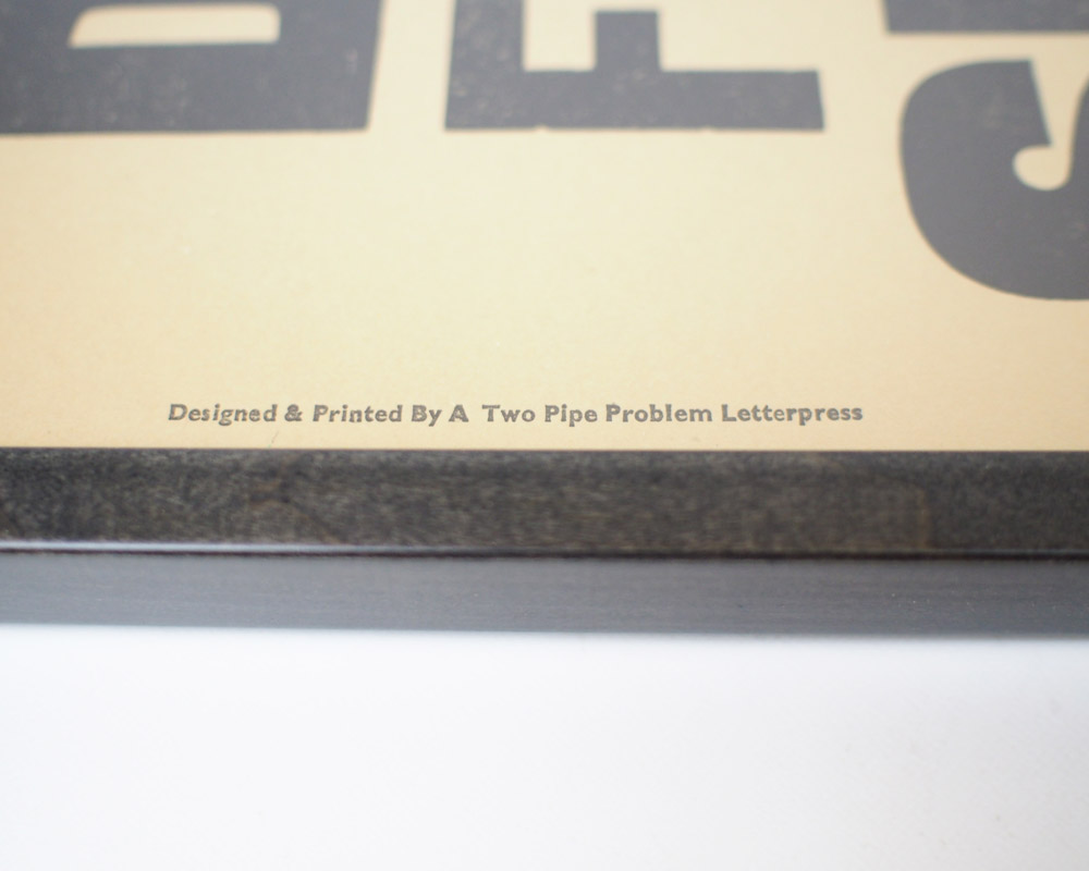 A TWO PIPE PROBLEM LETTERPRESS | DONUT FESTIVAL POSTER ドーナッツフェスティバルポスター