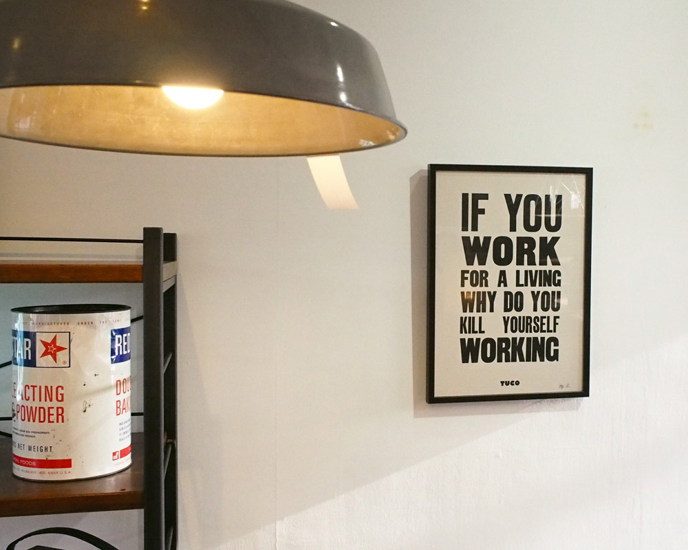 A TWO PIPE PROBLEM LETTERPRESS | IF YOU WORK FOR A LIVIN POSTER イフユーワークフォーアリビン ポスター