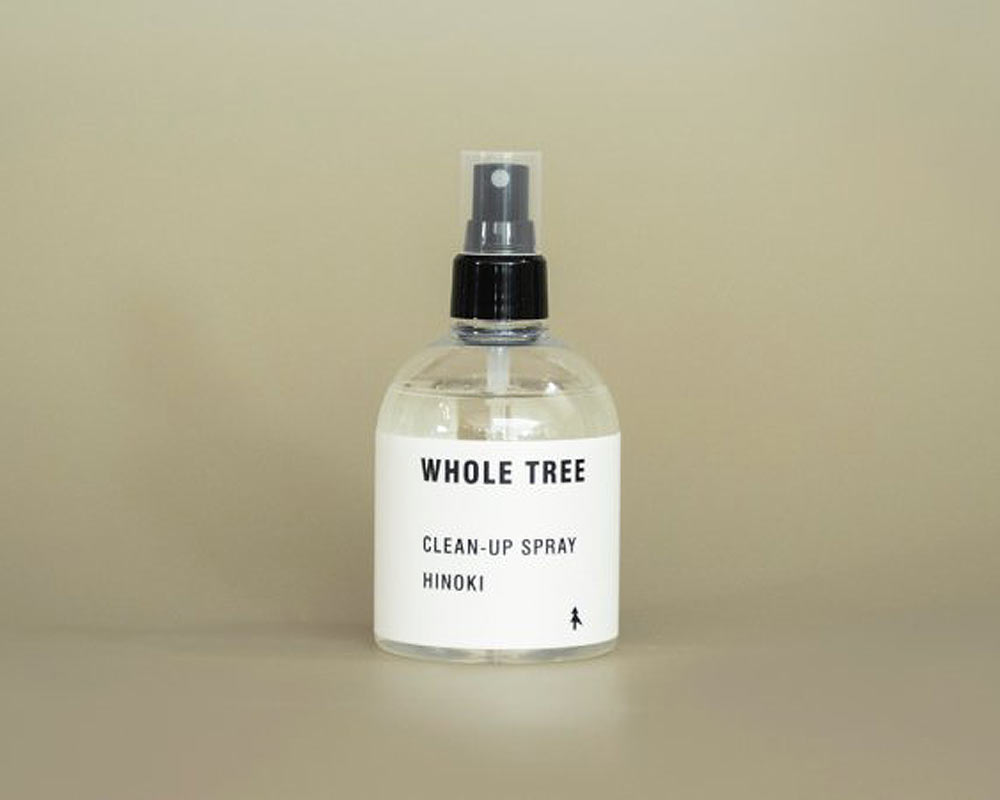 WHOLE TREE | CLEAN-UP SPRAY HINOKI クリーンナップスプレー/除菌スプレー ヒノキ