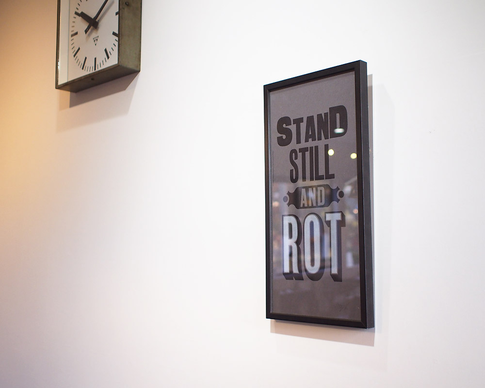 A TWO PIPE PROBLEM LETTERPRESS | STAND STILL AND LOT POSTER スタンドスティル ポスター