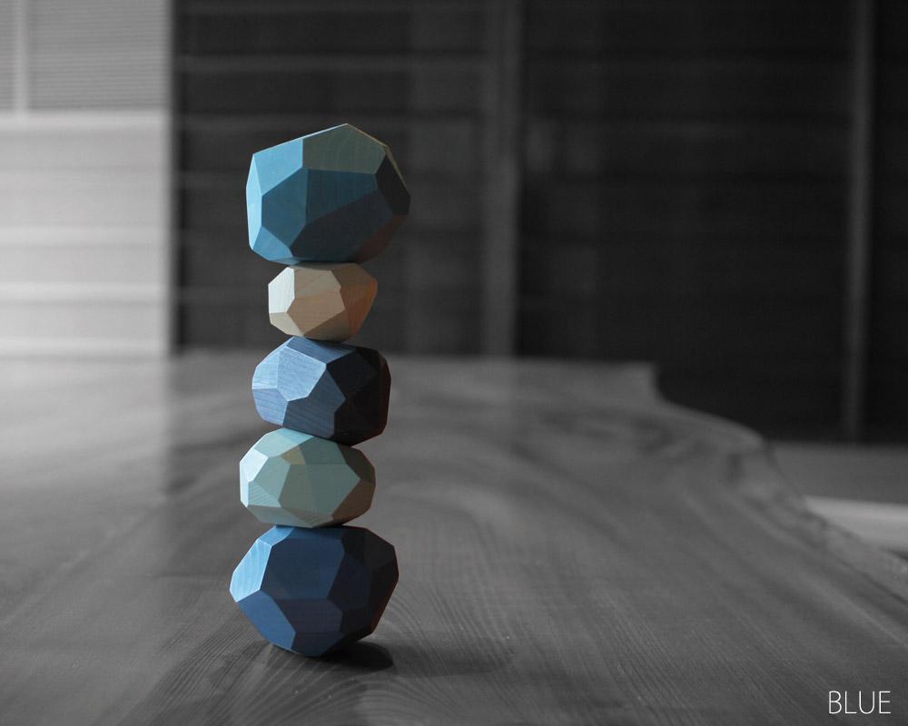 A4 | tumi-isi [4color] つみ石 / 多面体ブロック