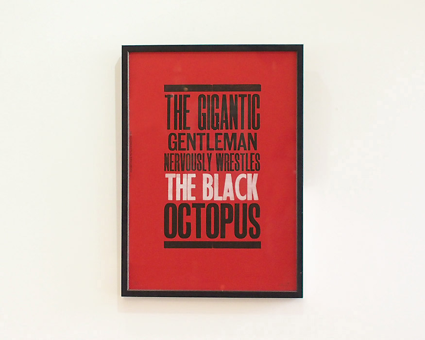 A TWO PIPE PROBLEM LETTERPRESS | THE BLACK OCTOPUS POSTER ブラックオクトパス ポスター