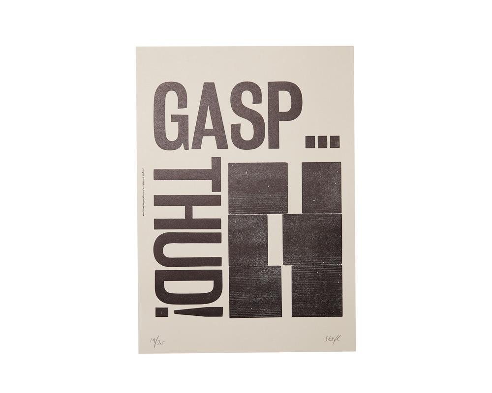 A TWO PIPE PROBLEM LETTERPRESS | GAPS THUD POSTER ギャップスサァドゥ ポスター