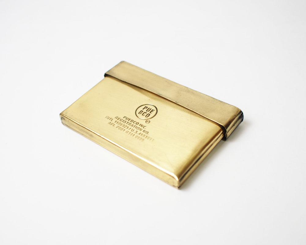 PUEBCO | BRASS CARD CASE ブラスカードケース