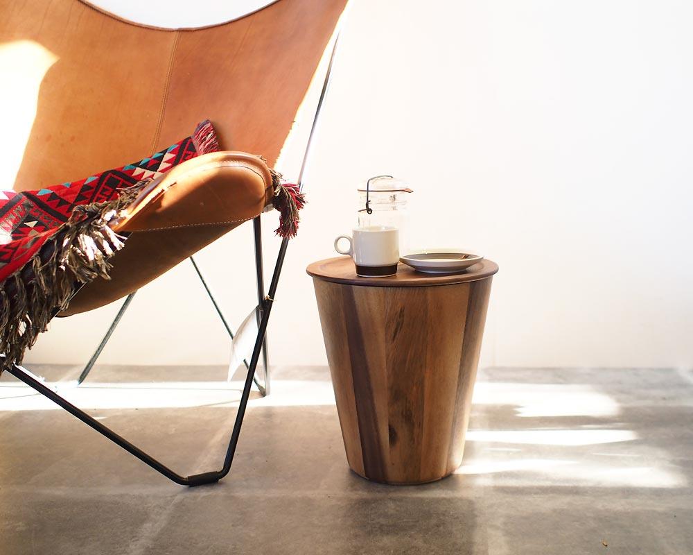 Monique Chartland | Wood Dust Bin with Cover ウッドダストビン トレイ蓋付き