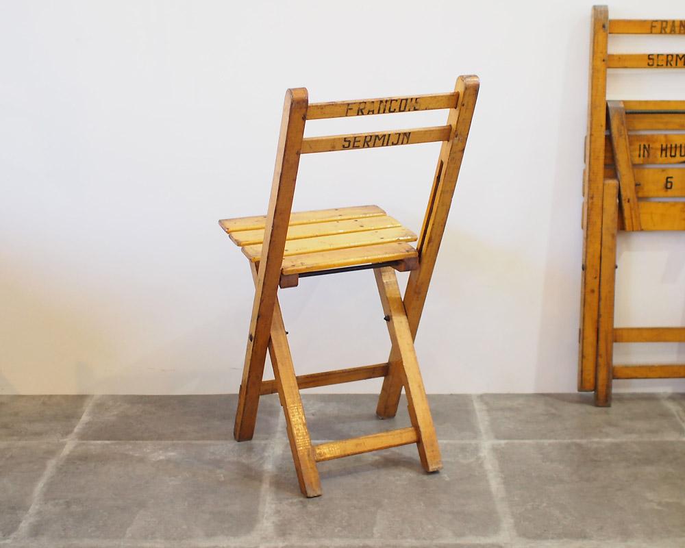 Unknown France | French Folding Church Chair フレンチフォールディングチャーチチェア