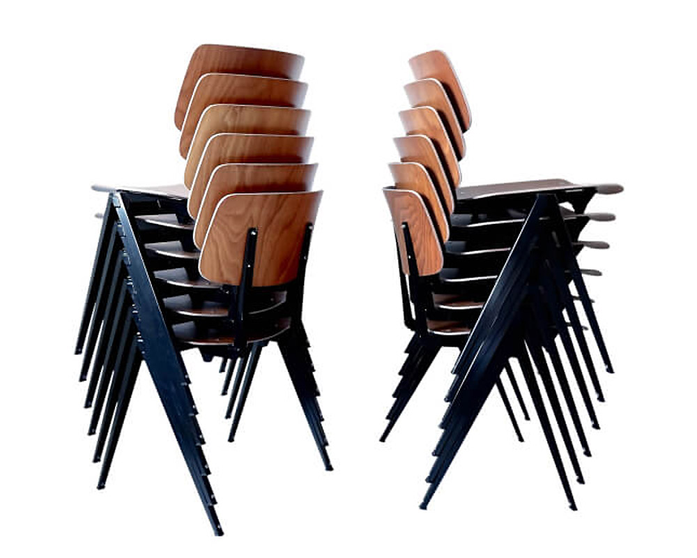 GALVANITAS | S.21 Stacking Chair Black ガルファニタスS21スタッキングチェア ブラック