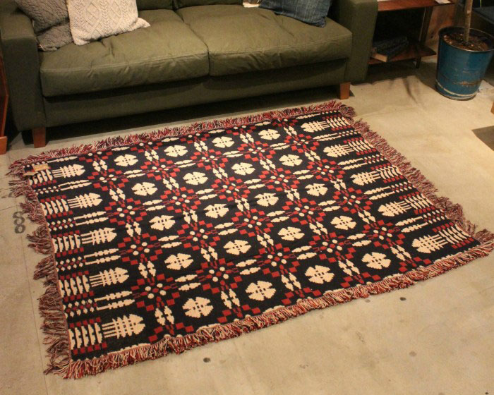 ACME Furniture | OVERSHOT RUG Navy/Red オーバーショットラグ