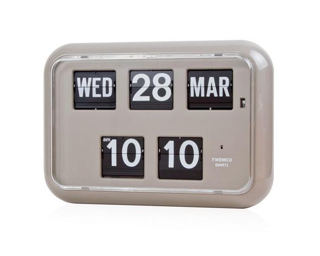 TWEMCO | Calendar Clock QD-35 Gray デジタルカレンダークロック グレー