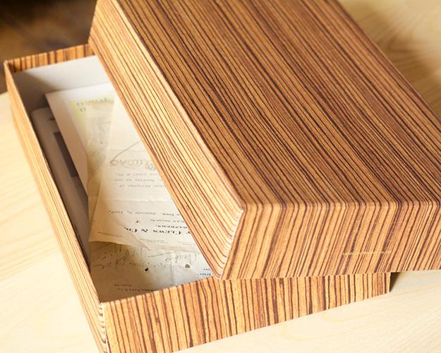 Landscape Products   Wood Fabric Document Box ウッドファブリック ドキュメントボックス