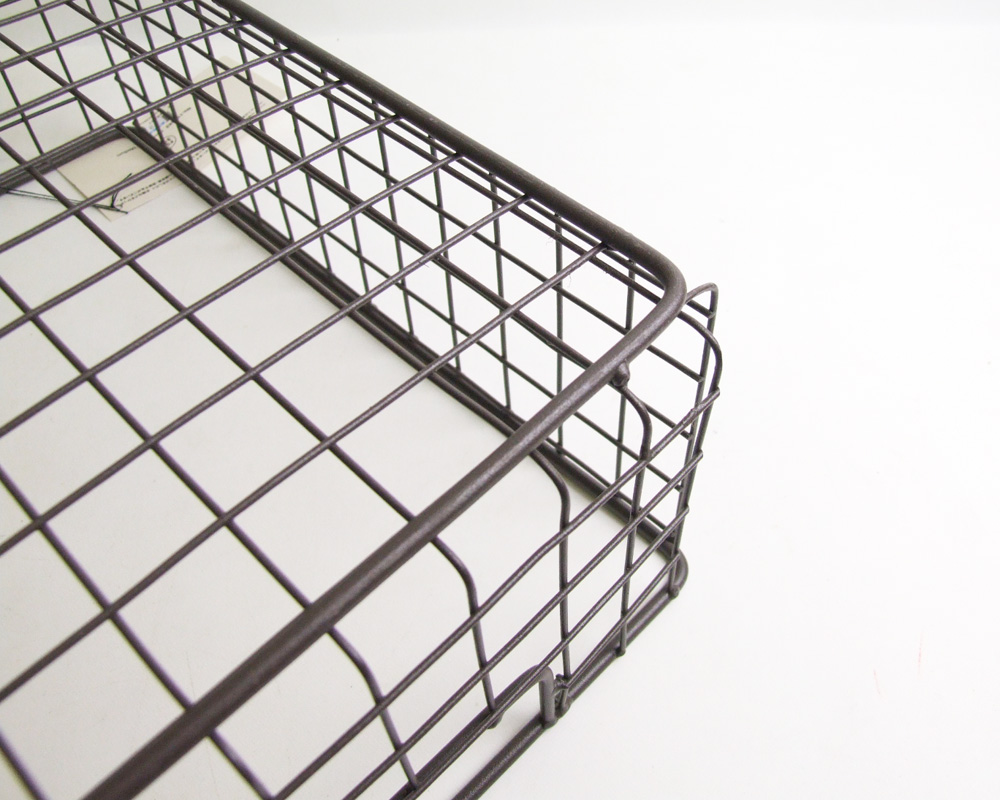 PUEBCO | WIRE BASKET SHOES BOX [2size] ワイヤーバスケットシューズボックス