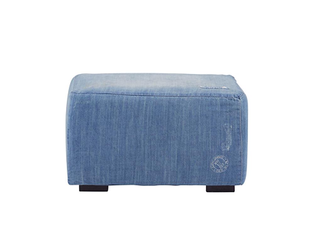 journal standard Furniture | FRANKLIN OTTOMAN Damage DENIM フランクリンオットマン ダメージデニム