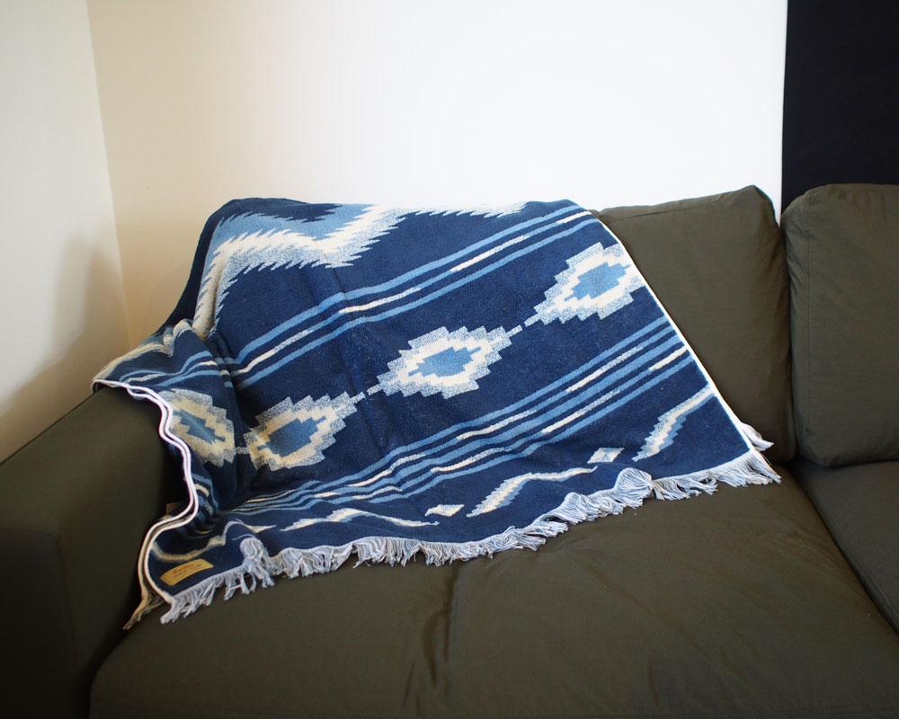 BasShu | Cotton Pile Blanket Native Motif コットンパイルブランケット ネイティブモチーフ