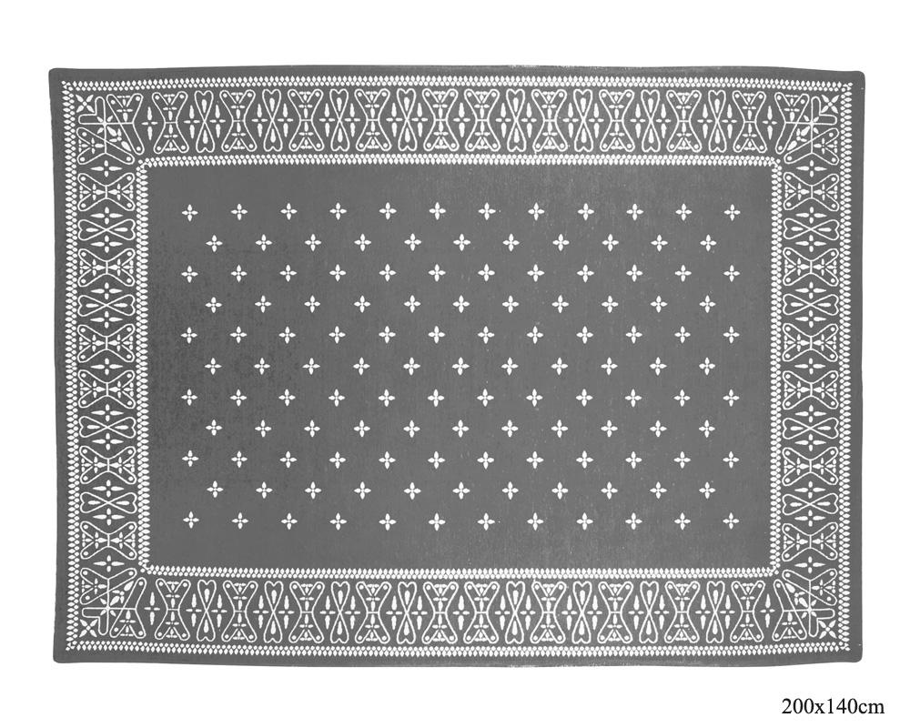 DETAIL | Cross Bandana Rug Gray [4size] クロスバンダナラグ グレー
