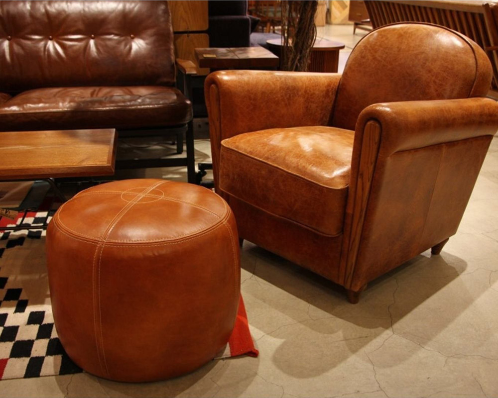 ACME Furniture | OAKS LEATHER STOOL [2type] オークスレザースツール
