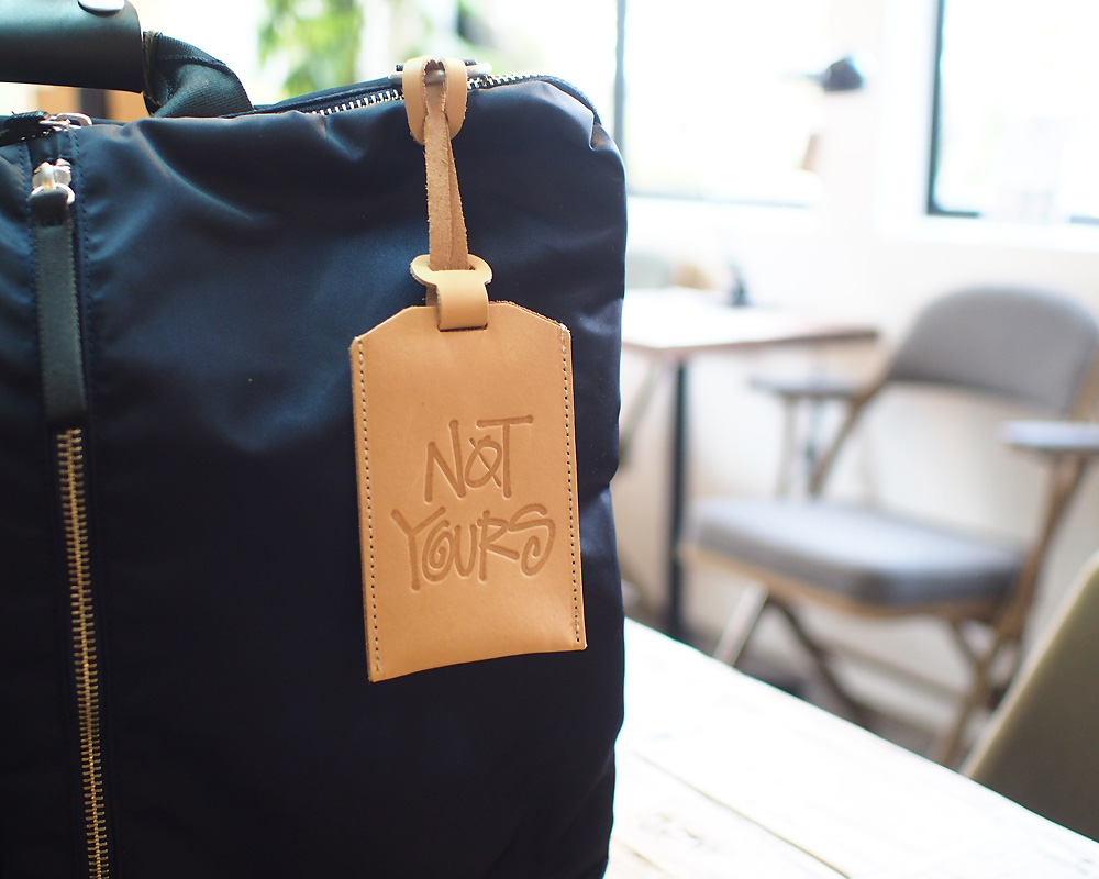 STUSSY Livin' General Store   GS Leather Luggage Tag  GSレザーラゲッジタグ