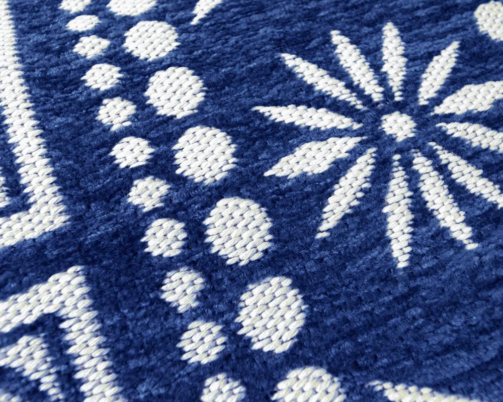 DETAIL | Flower Bandana Rug Navy [4size] フラワーバンダナラグ ネイビー
