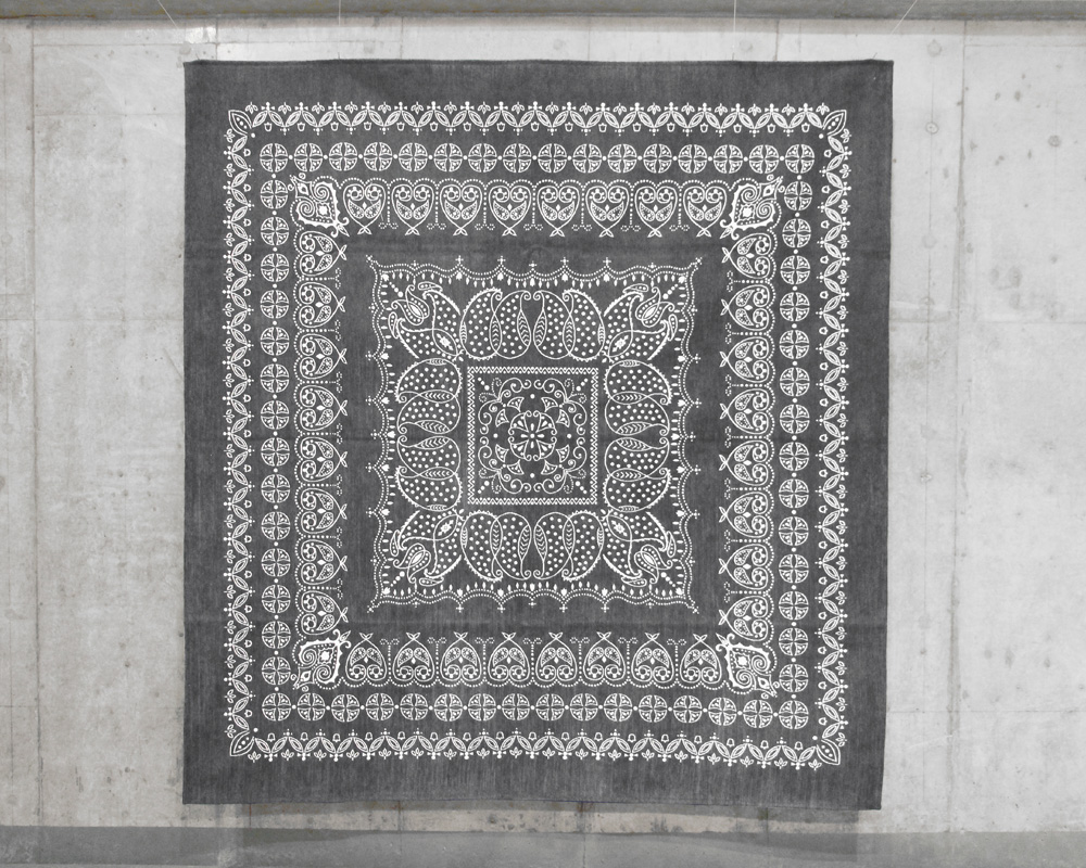 DETAIL | Leaf Bandana Rug Gray [4size] リーフバンダナラグ グレー