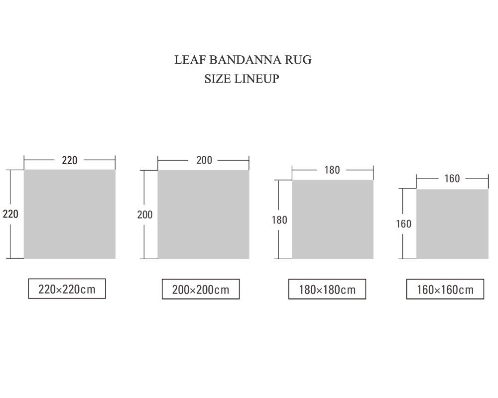 DETAIL | Leaf Bandana Rug Navy [4size] リーフバンダナラグ ネイビー